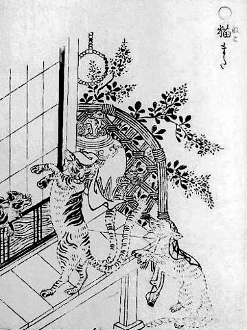 「貓又」為日本傳說中的妖怪(圖來自wiki,Ⓒ鳥山石燕)