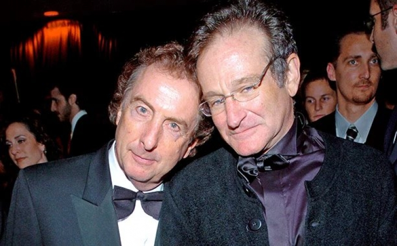 羅賓.威廉斯與艾瑞克.艾鐸(圖片來源: http://ew.com/article/2014/11/11/robin-williams-monty-python-reunion/)
