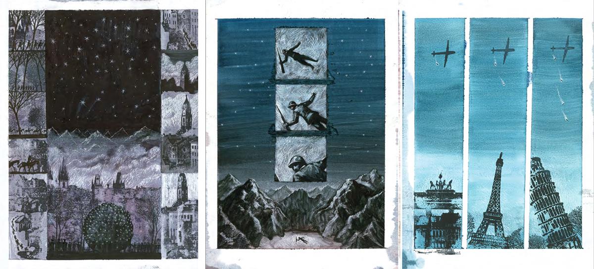 一顆表徵著戰爭與死亡之石(圖/《如同此石:一切戰爭之書》內頁)