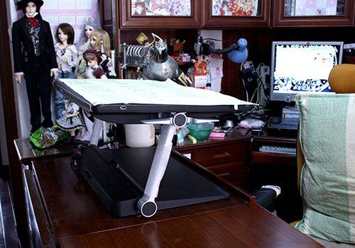 紅麟的工作桌