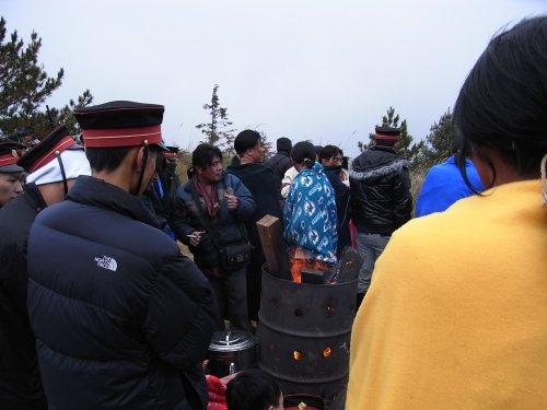 零度以下的福壽山拍攝現場