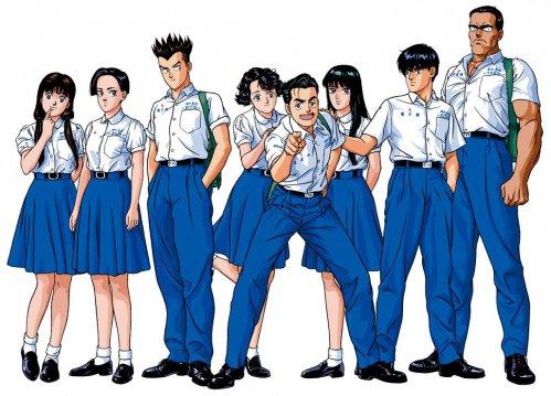 神秘6_YOUNG GUNS白衣藍褲藍裙的制服
