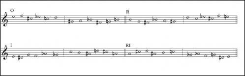 《鋼琴變奏曲》Op.27 之序列