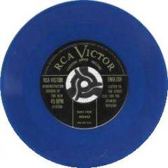 歌物件-RCA最早的45轉七吋唱片示範盤