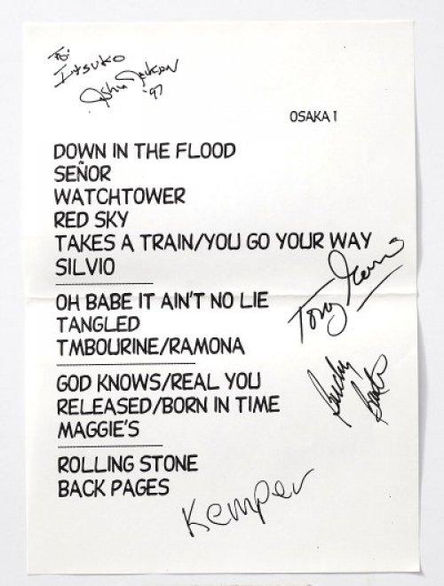 歌物件-曲目單-Bob Dylan的cue sheet